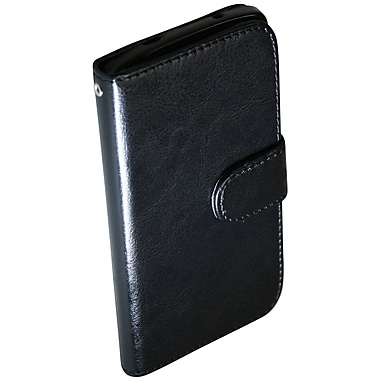 Exian Nexus 5 Leather Wallet Case with Card Slots, Black