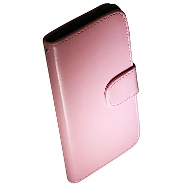 Exian Nexus 5 Leather Wallet Case with Card Slots, Pink