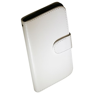 Exian Nexus 5 Leather Wallet Case with Card Slots, White