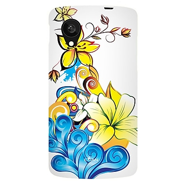 Exian Case for Nexus 5, Floral Pattern Yellow Blue White