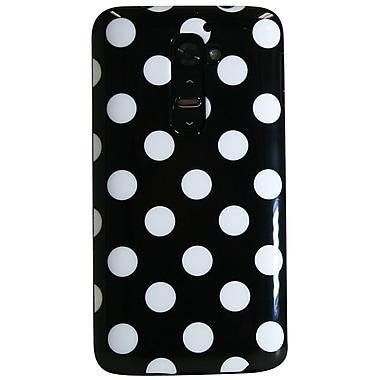 Exian LG G2 TPU Case, Polka Dots Black