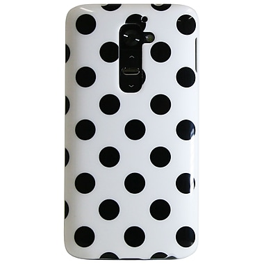 Exian Case for LG G2, Polka Dots White