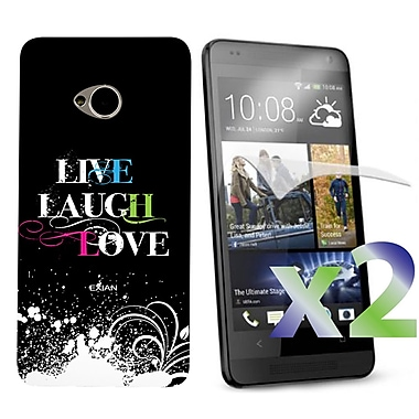 Exian Case for HTC One, Live Laugh Love