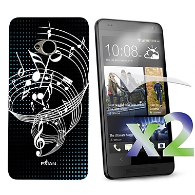 Exian Case for HTC One, Musical Notes Black