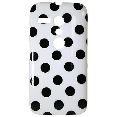 Exian Motorola Moto G TPU Case, Polka Dots White