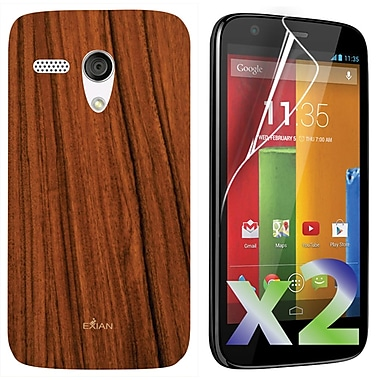 Exian Case for Moto G, Wood