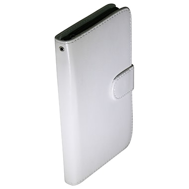 Exian Case for Xperia Z1, Leather Wallet White