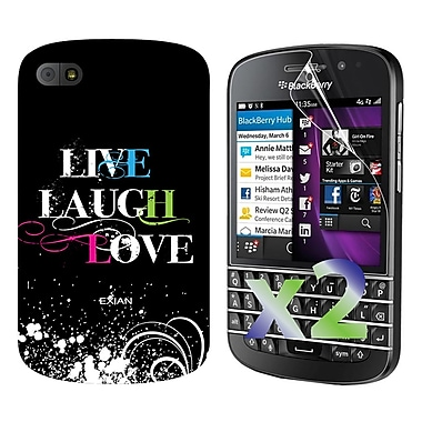 Exian Cases for Blackberry Q10, Live Laugh Love