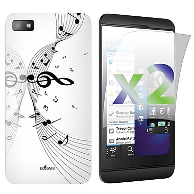 Exian Case for Blackberry Z10, Musical Notes White