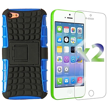 Exian Case for iPhone 5C, Armored with Stand Blue