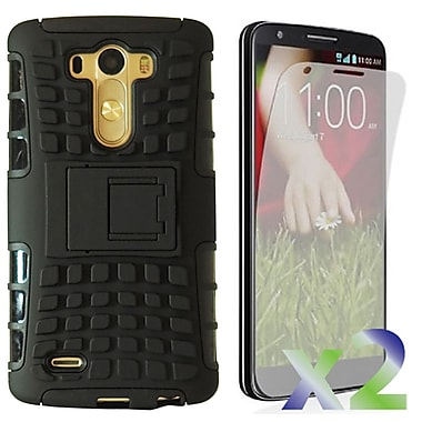 Exian LG G3 Transparent Armoured Case with Stand, Black