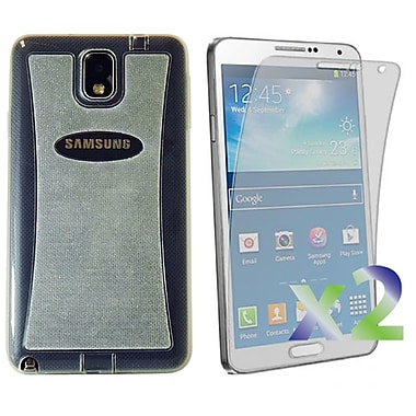 Exian – Étui transparent scintillant pour Galaxy Note 3