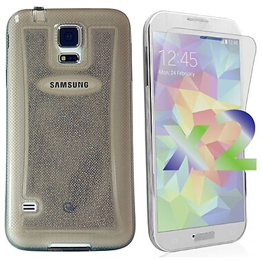 Exian Case for Galaxy S5, Transparent Sparkling Grey