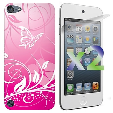 Exian iPod Touch 5 TPU Case, Butterflies Flowers Pink