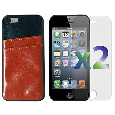 Exian iPhone SE/5/5s Leather with Card Slot Brown