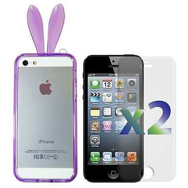 Exian iPhone SE/5/5s Bumper with Bunny Ears Purple