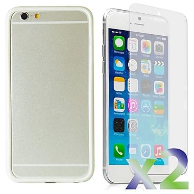 Exian – Étui pare-chocs pour iPhone 6, blanc