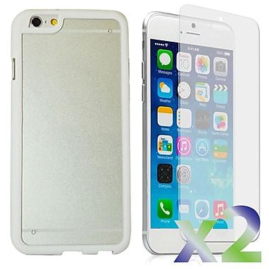 Exian – Étui pare-chocs avec protecteur arrière pour iPhone 6, blanc