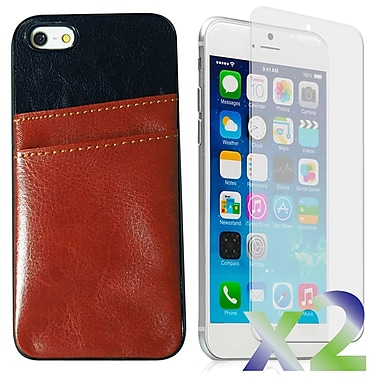 Exian – Étuis en cuire avec une fente à cartes pour iPhone 6