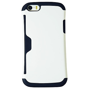Exian Case for iPhone 6, Armored with Card Slot White