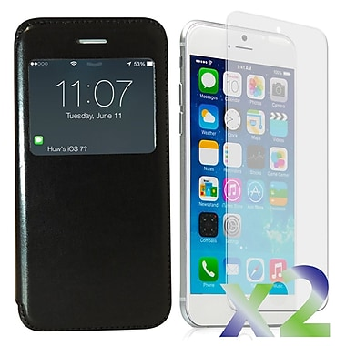 Exian Cases for iPhone 6, Flip with Call Access Window
