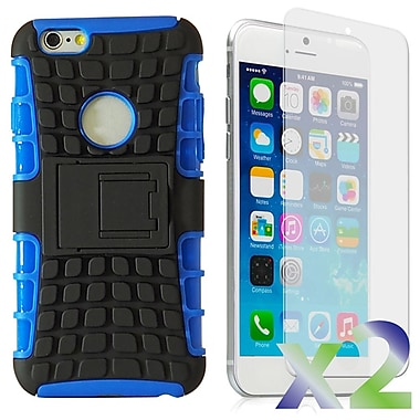 Exian 6GPLUS-001 Case for iPhone 6 Plus, Armored with Stand Blue