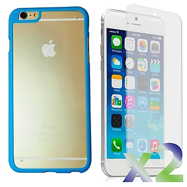 Exian Case for iPhone 6 Plus, Bumper with Back Cover Blue