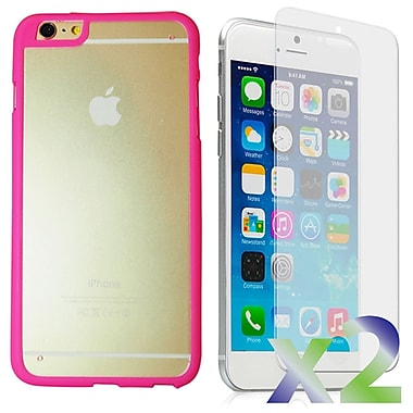 Exian Case for iPhone 6 Plus, Bumper with Back Cover Pink