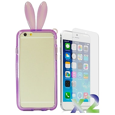 Exian Case for iPhone 6 Plus, Bunny Ears Purple