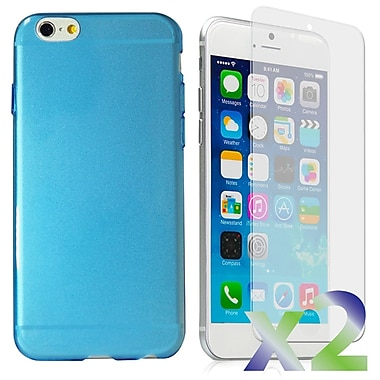 Exian – Étui pour iPhone 6 Plus, bleu transparent