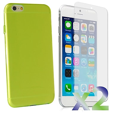 Exian Case for iPhone 6 Plus, Transparent Green