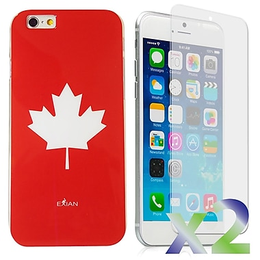 Exian Case for iPhone 6 Plus, Maple Leaf