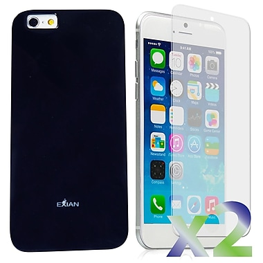 Exian Case for iPhone 6 Plus, Solid Black