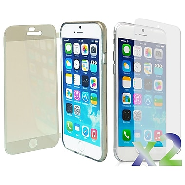 Exian Case for iPhone 6 Plus, Transparent with Front Cover Grey