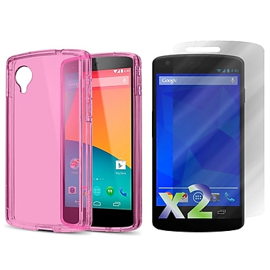 Exian Case for Nexus 5, Transparent Pink