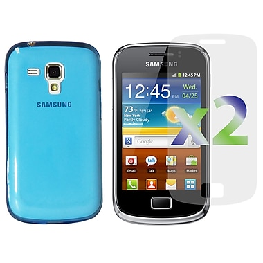 Exian Case for Galaxy Ace 2X, TPU Transparent Blue