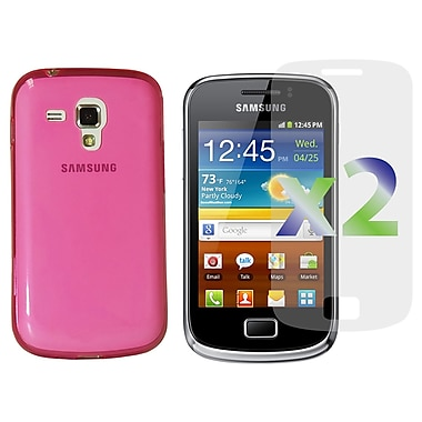 Exian Case for Galaxy Ace 2X, TPU Transparent Hot Pink