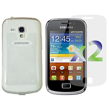 Exian Case for Galaxy Ace 2X, TPU Sparkling Transparent Clear