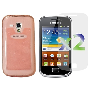 Exian Case for Galaxy Ace 2X, TPU Sparkling Transparent Pink