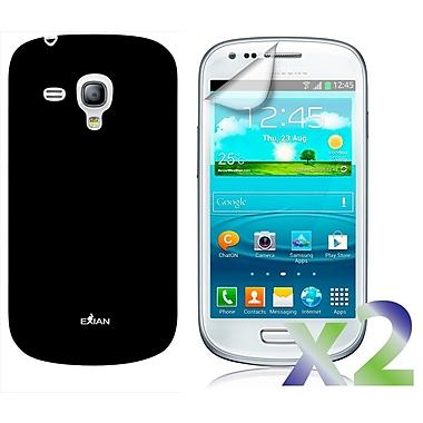 Exian – Étui pour Galaxy S3 Mini, noir uni