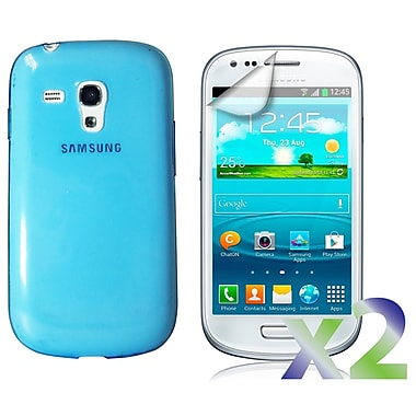 Exian Case for Galaxy S3 Mini, TPU Transparent Blue