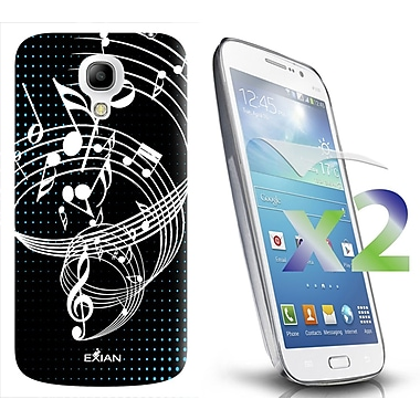 Exian Case for Galaxy S4 Mini, Musical Notes Black