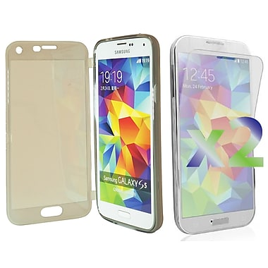 Exian Case for Galaxy S5, Transparent with Front Grey