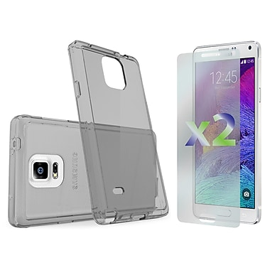 Exian Case for Galaxy Note 4, Transparent Grey