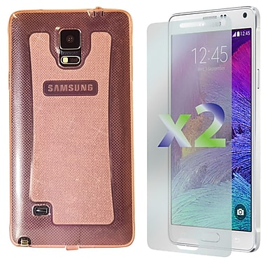 Exian Case for Galaxy Note 4, Transparent Sparkling Pink