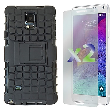 Exian Case for Galaxy Note 4, Armored with Stand