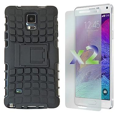 Exian – Étui avec revêtement protecteur texturé et support pour Galaxy Note 4 de Samsung