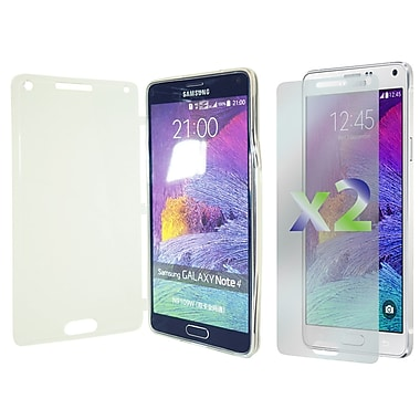 Exian Case for Galaxy Note 4, Transparent with Front Cover Clear