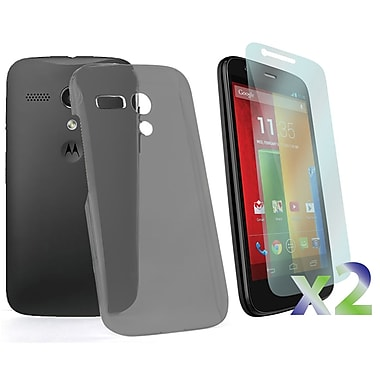 Exian Case for Moto G, Transparent Grey