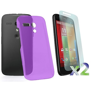 Exian Case for Moto G, Transparent Purple